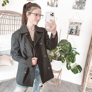J.Crew Wool Double Breasted Thinsulate Pea Coat